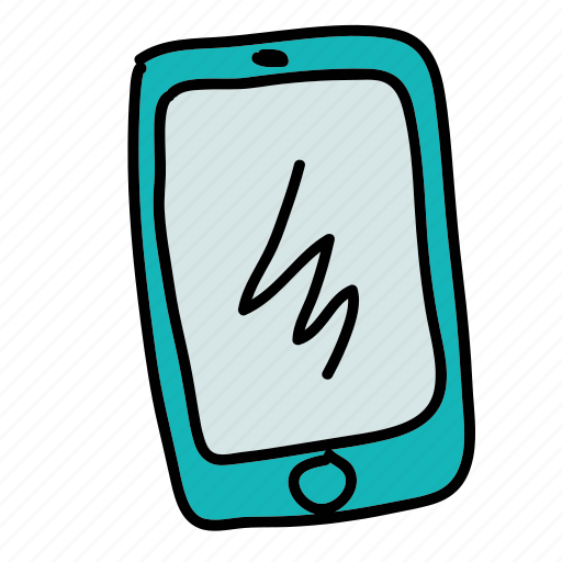 business, electronic, mobile, phone, technology, touchscreen icon