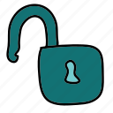 business, lock, safety, security, unlock icon
