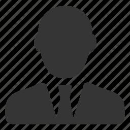 avatar, business, businessman, man, single, tie, user icon