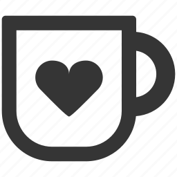coffee, cup, heart, love, office, tea, work icon