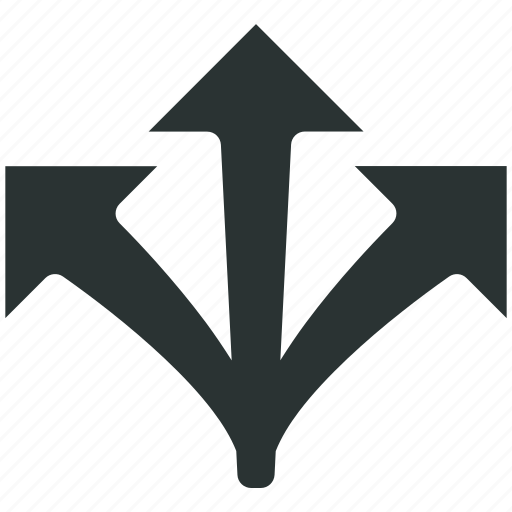 arrows, branch, choice, decision, direction, strategy icon