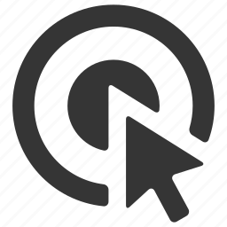 arrow, bullseye, business, click, interent, marketing, seo icon