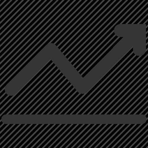 arrow, chart, growth, profit, progress, sales, trend icon