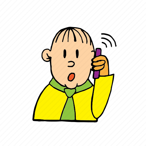 calling, calling with mobile, handling, man, mobile, mobiling, speaking icon