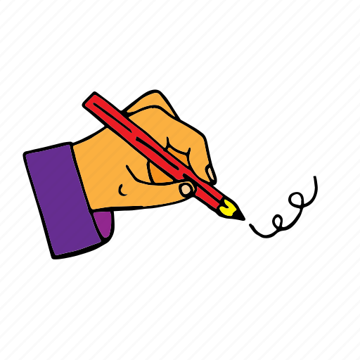drawing, edit, gesture, hand, pen, pencil, writing icon