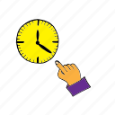 break, clock, exact, hour, pause, stop, time icon