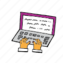 communication, computer, handwriting, media, modern, pc, writing icon
