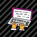 computer, handwriting, modern, pc, writing, communication, media