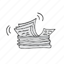 lots of papers, mess, newspapers, office, papersandmaterials, paperwork icon