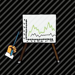 color, development, graph, lection, lecture, presentation, presentation table icon