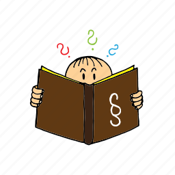 asks, book, law, question, reading, school, study icon