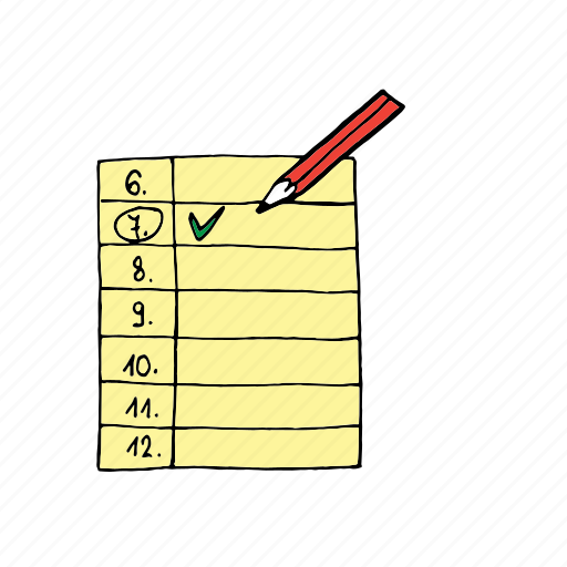 checkmark, done, fulfilled, mark, priority, tasks, timetable icon