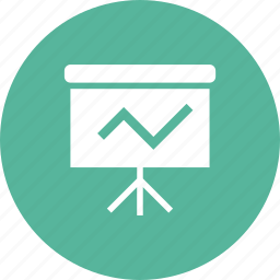 arrow, business, profit, projection, report, screen icon
