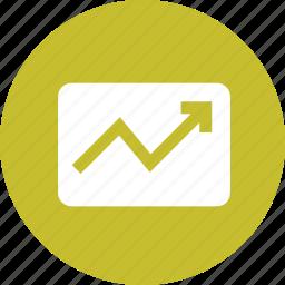 arrow, high, increase, profits, progress, stock, upward icon