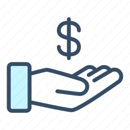 business, cash out, dollar, donate, finance, payment, revenue icon