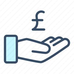 business, cash out, donate, finance, payment, pound, revenue icon