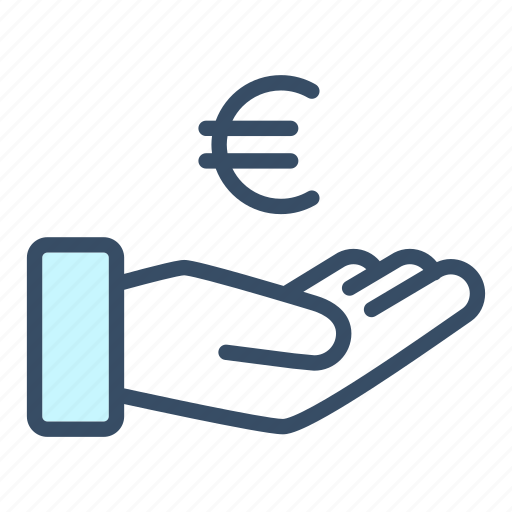business, cash out, donate, euro, finance, payment, revenue icon
