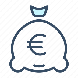 budget, business, euro, finance, interest, investment, money bag icon