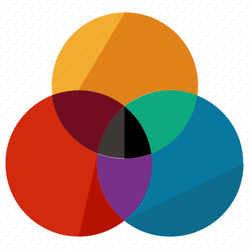 business, circles, design, graphic, marketing, rgb icon