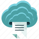 cloud, printing, business, document