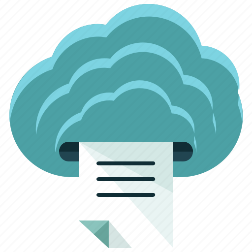 business, cloud, document, printing icon