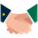 agreement, business, deal, handshake icon