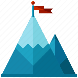 achievement, business, flag, goal, marketing, mountain, target icon