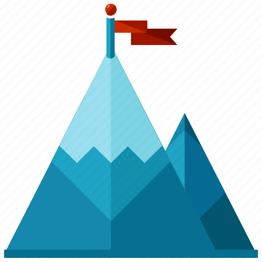 Achievement, business, mountain, target icon - Download on Iconfinder