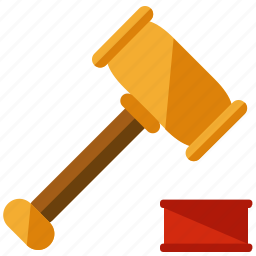 business, court, gavel, legal icon