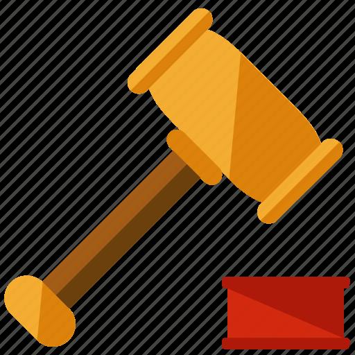 business, gavel, javel, law, marketing icon