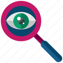 eye, find, magnifier, search, view, vision icon