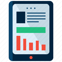 article, business, device, ipad, tablet, technology icon