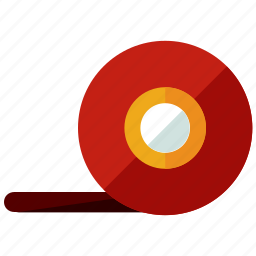business, marketing, office, tape icon
