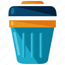 bin, can, rubbish, trash icon