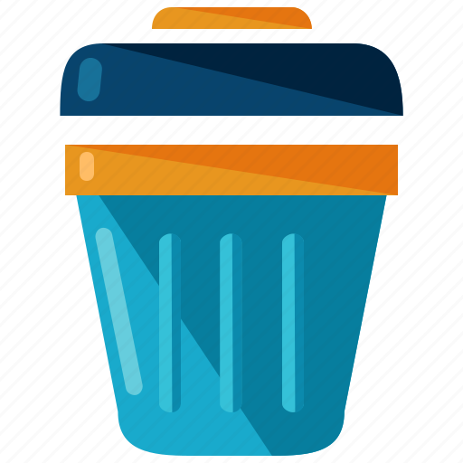 bin, can, rubbish, trash icon