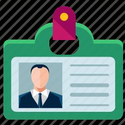 badge, business, card, employee, identification, identity, marketing icon