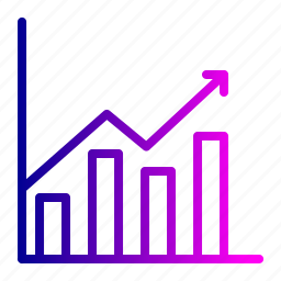 analytics, chart, financial, graph, growth, report, year icon