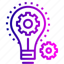 business, concept, evaluate, idea, implementation, innovation icon