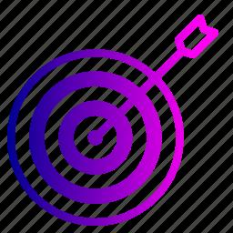 aim, company, future, goal, market, people, target icon