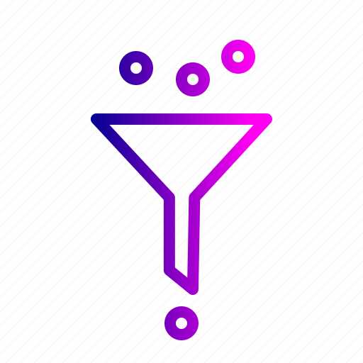 conversion, data, filter, funnel, science, seo, traffic icon