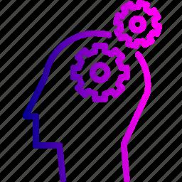 development, idea, personal, problem, solution, strategic, thinking icon