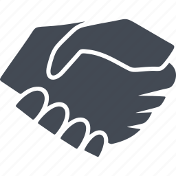 business, chart, handshake, handshaking icon