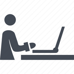 a computer, business, employee, office icon