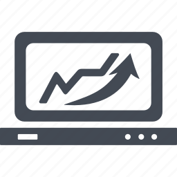 arrow, business, monitor, scale icon