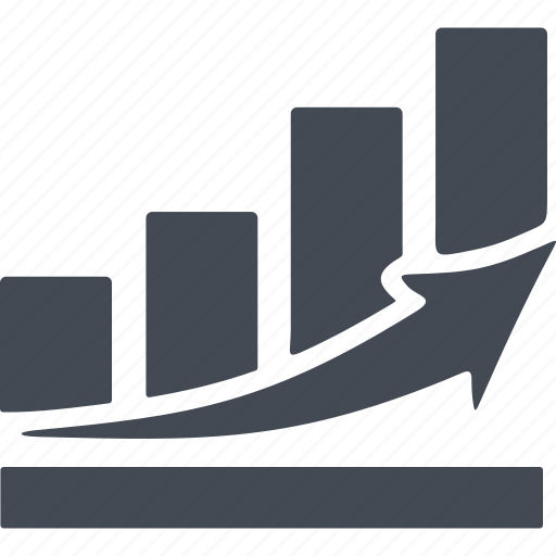 business, diagram, growth scale, schedule icon