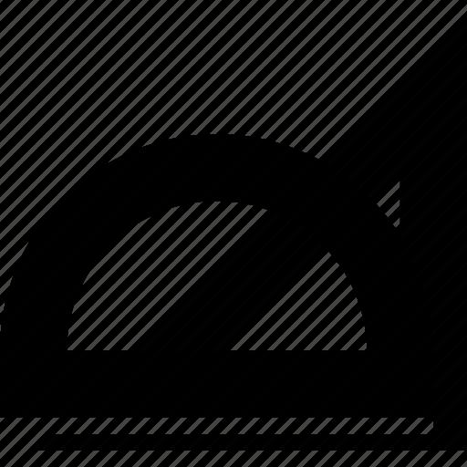 angle, measure, measurement, protractor icon