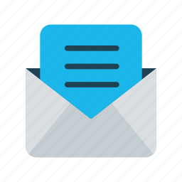 business, communication, inbox, letter, mail, messaging icon