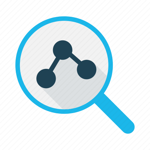 analystic, business, chart, data research, graph, magnifier, summary icon