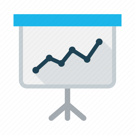business, chart, conference, graph, meeting, presentation, white paper icon
