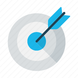 arrow, business, focus, goal, mission, objective, target icon